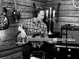 Studio pic of Thomas Midemyr recording electric bass on the song A Kid On The Street.