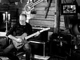 Studio pick of Tailor Hill Stations guitarist Peter Enström records electric guitar on the song A Kid On The Street.