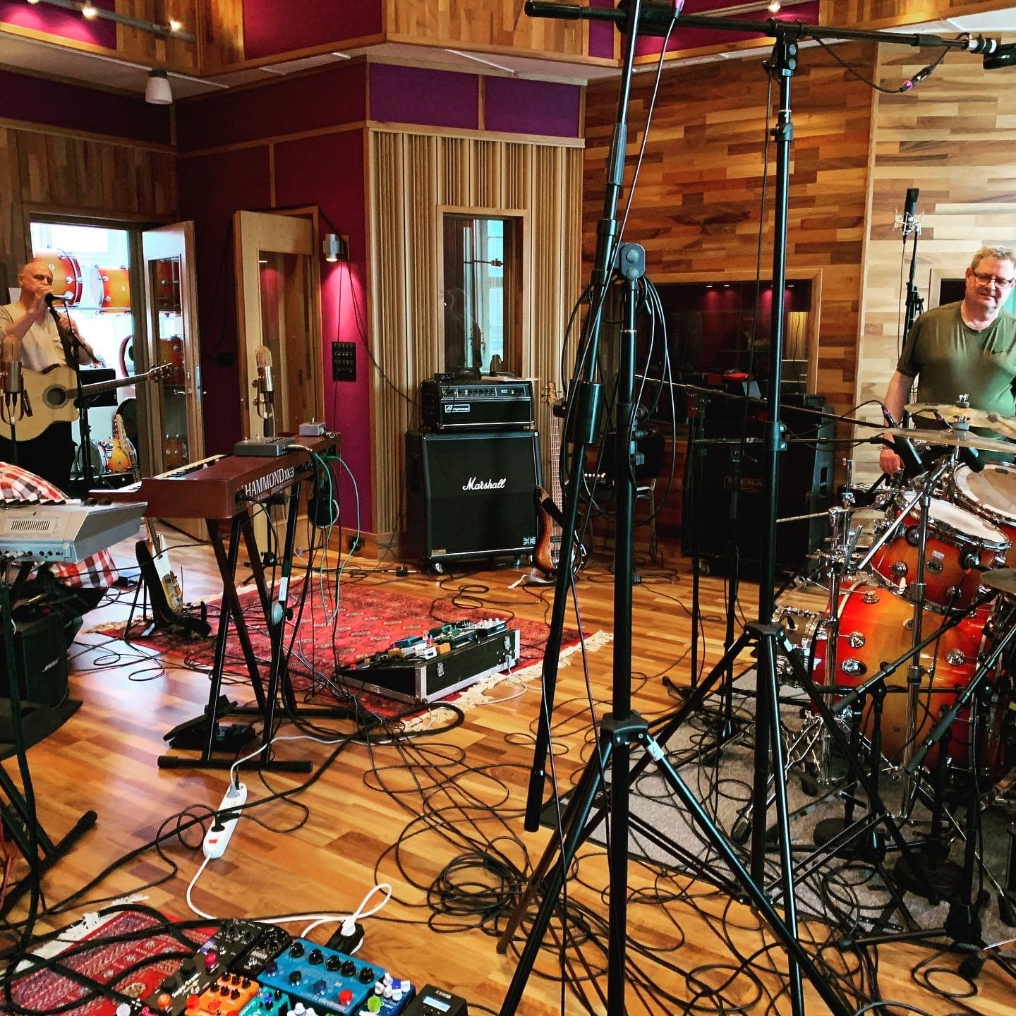 Wide view of the recording studio